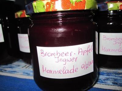 Brombeer-Apfel-Ingwer-Marmelade - Rezept