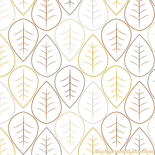 Seamless Pattern With Autumn Leaves On A White Background