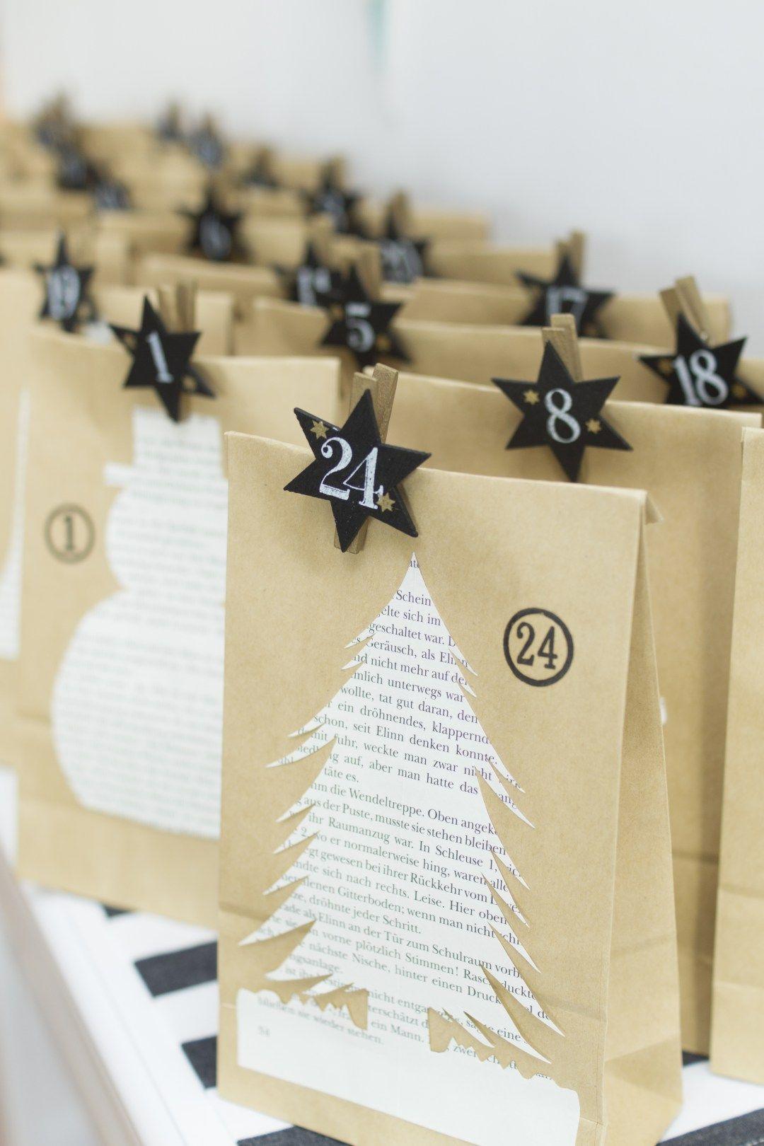 Adventskalender DIY - einfache Anleitung mit 24 Motiven   LieberBacken