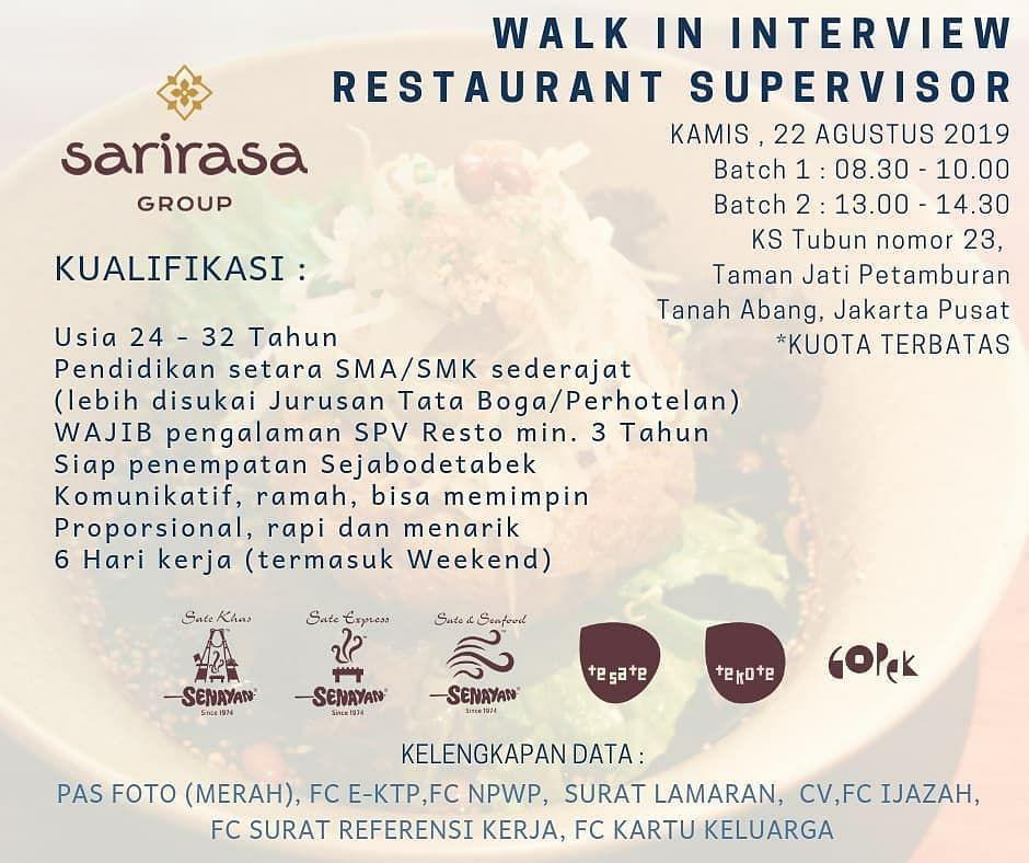 Info Loker Restoran Jakarta 2020 Kumpulan Informasi