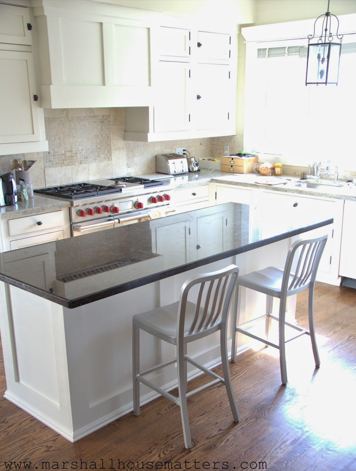 Marshall house matters reveal kitchen island painted pretty trim