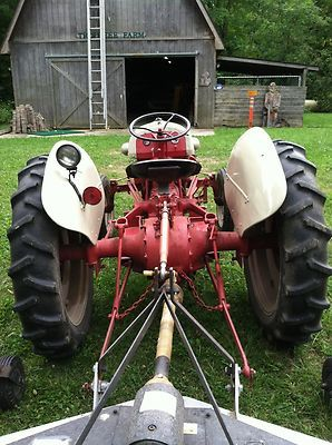 Ford 9n Tractor 1950 S 8n 3 Point Hitch Red White Restored Runs
