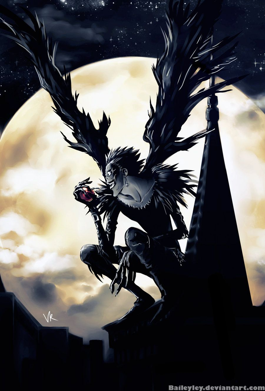 Ryuk by Baileyley Death note, Death note l, Anime wallpaper