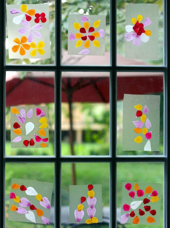 Pressed Flower Windows -- so pretty!