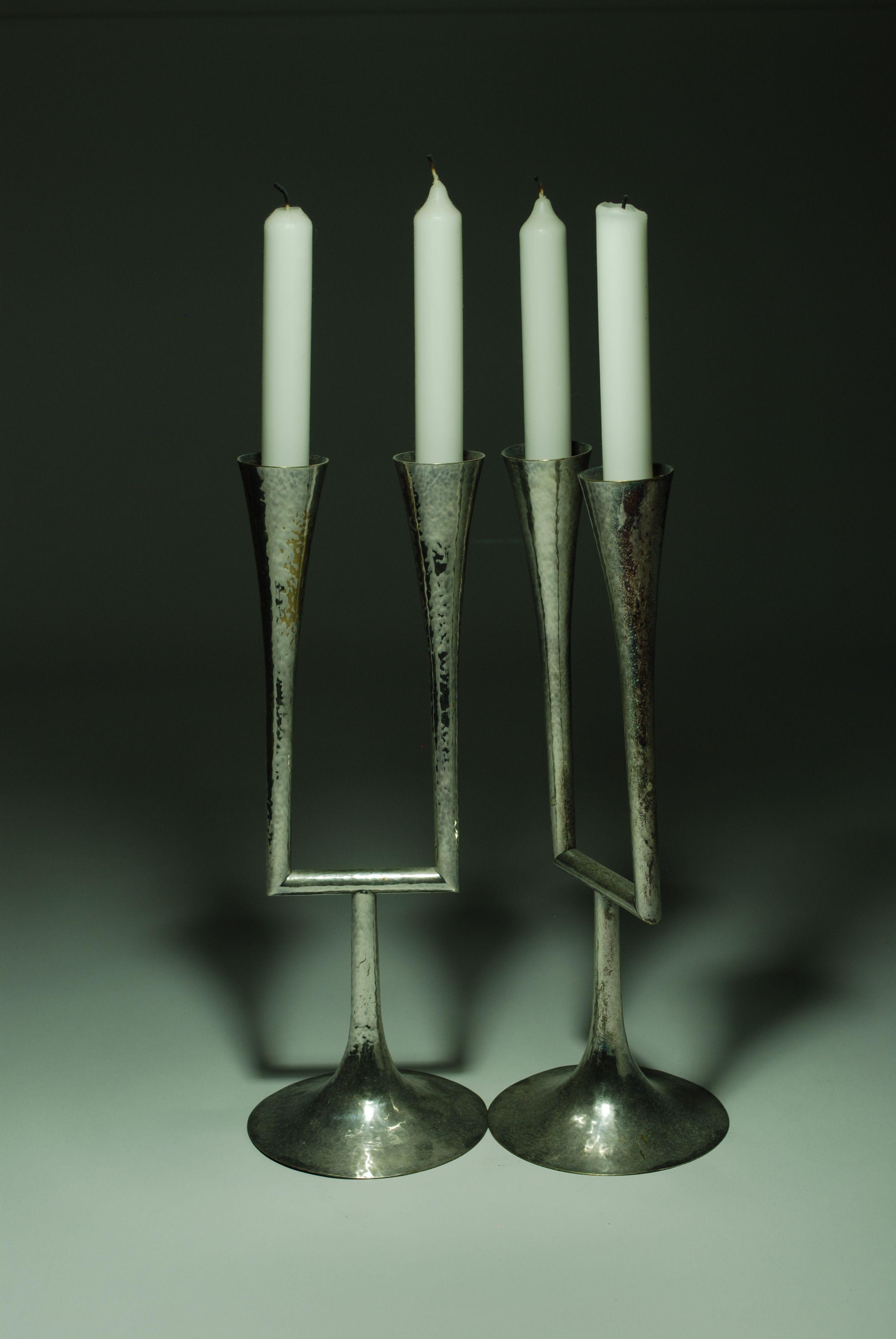 Kerzenständer Blumenvase Schwarz Kerzenhalter Kerzenleuchter für Stumpenkerzen