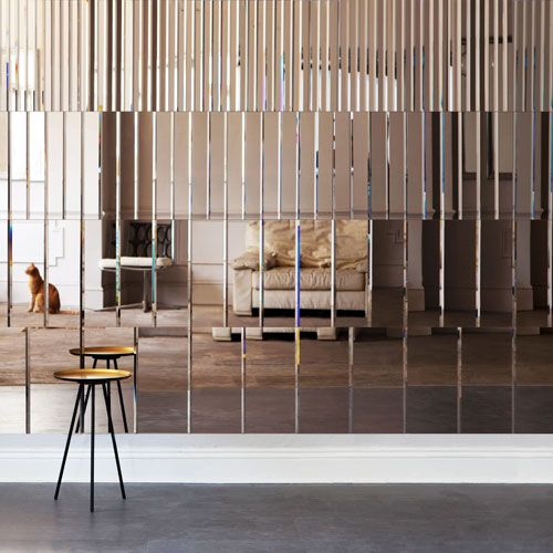 mirror wall panel pleat mirror by afroditi krassa - Design Wall Mirrors