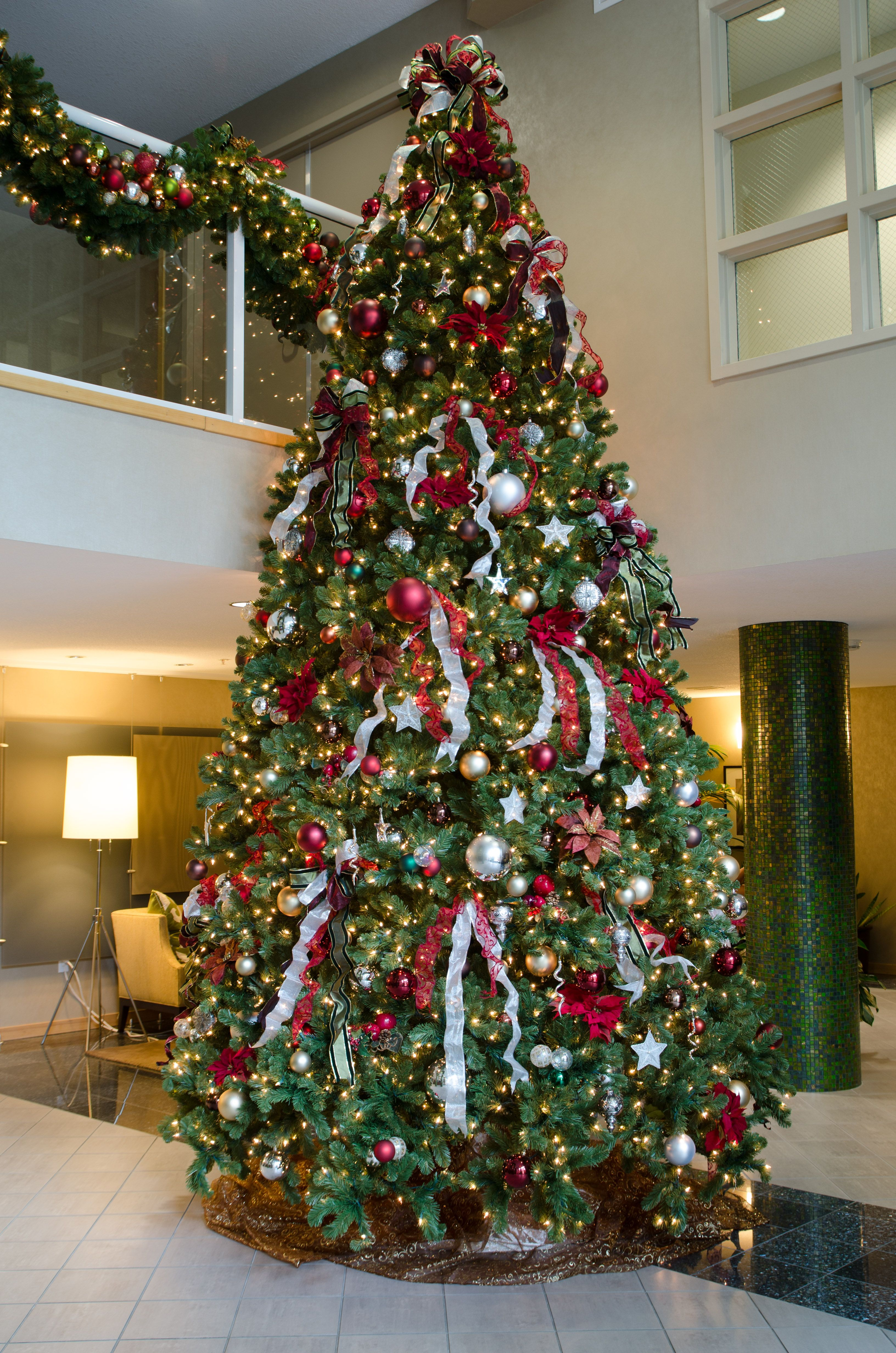 14 foot artificial tree designed by Deko for a high rise ...