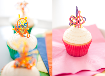 silly band cupcake toppers