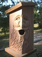 Hand Carved Cedar Birdhouse. WOOD SPIRIT.  $20.00, via Etsy.  totally handmade of Western Red Cedar. $10 s/h  great price!