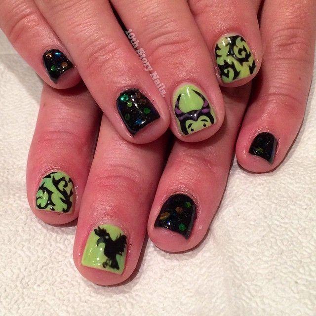 Maleficent nail art, disney nails | Disney Nails | Pinterest ...