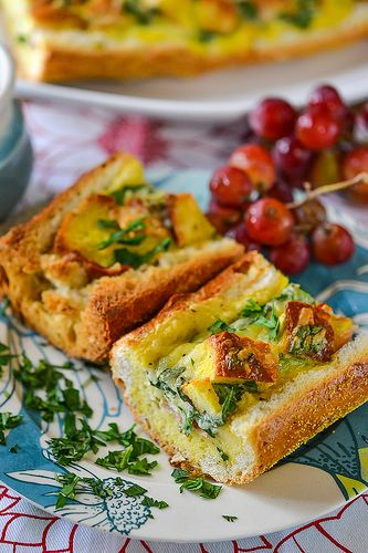 Baked Omelettes in Bread