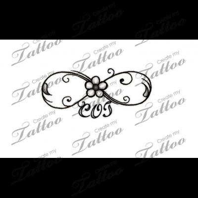 Infinity Symbol With 3 Names Or Initials Infinity With Initials Tattoo 119216 Createmytattoo Com Tattoos Monogram Tattoo Custom Tattoo Design