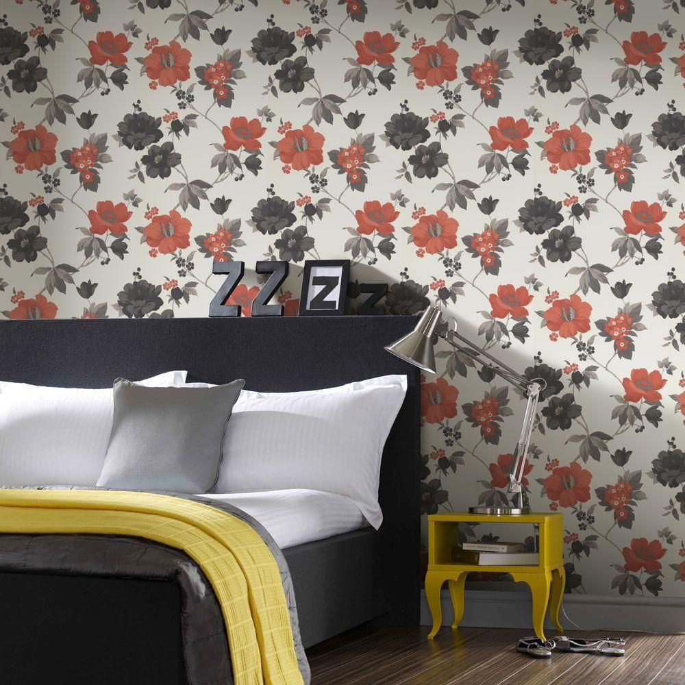 Wondrous Graham Brown 56 Sq Ft Eden Orange Wallpaper 32 454 The Interior Design Ideas Skatsoteloinfo
