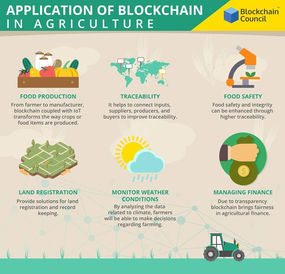 Application Of Blockchain In Agriculture Blockchain Blockchain Technology Online Training Courses