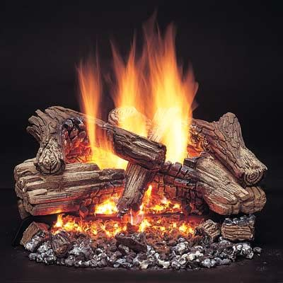 oak logs more fireplace set royal products log temco gas ceramic for