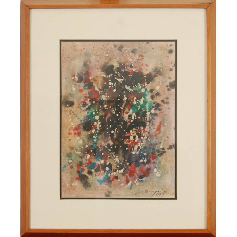 www.iarremate.com.br  Leilão Galeria Leiloes dia 17/12 as 21hs!  lote 148 Antonio Bandeira, Abstrato - guache - dat. 1963 - med. 34 x 25 cm Valor atual R$ 2.500,00  #arte #arquitetura #galerias #leilão #auction ##iarremate #galerialeiloes