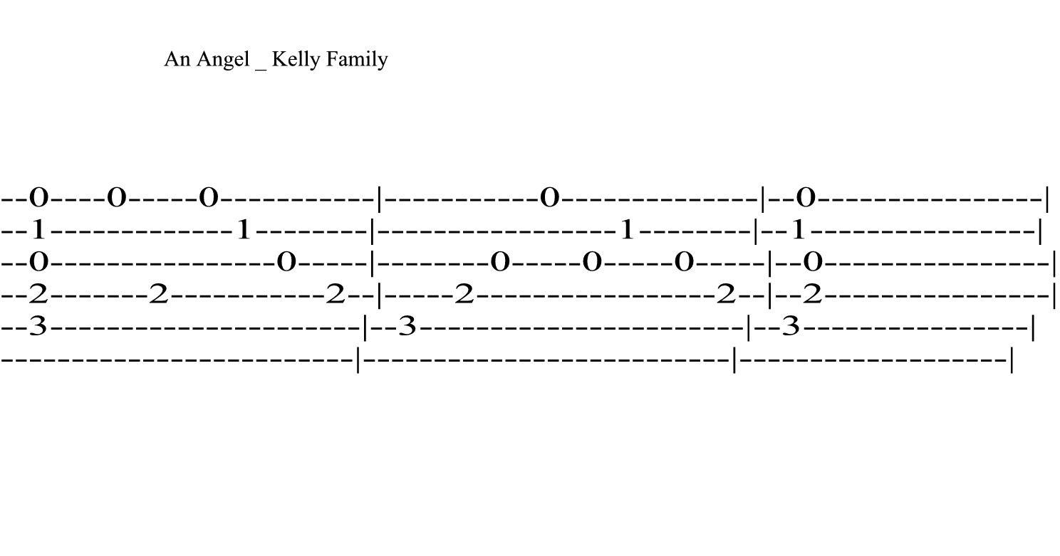 An Angel - Kelly Family--Kytara - Tabulatury,Tablature,Tab -1319
