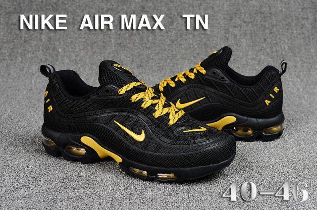 Náutico amplio Pantalones  Nike Air Max Tn KPU Black Gold Men's Running Shoes Sneakers   Nike air max, Nike  air max tn, Casual sneakers women