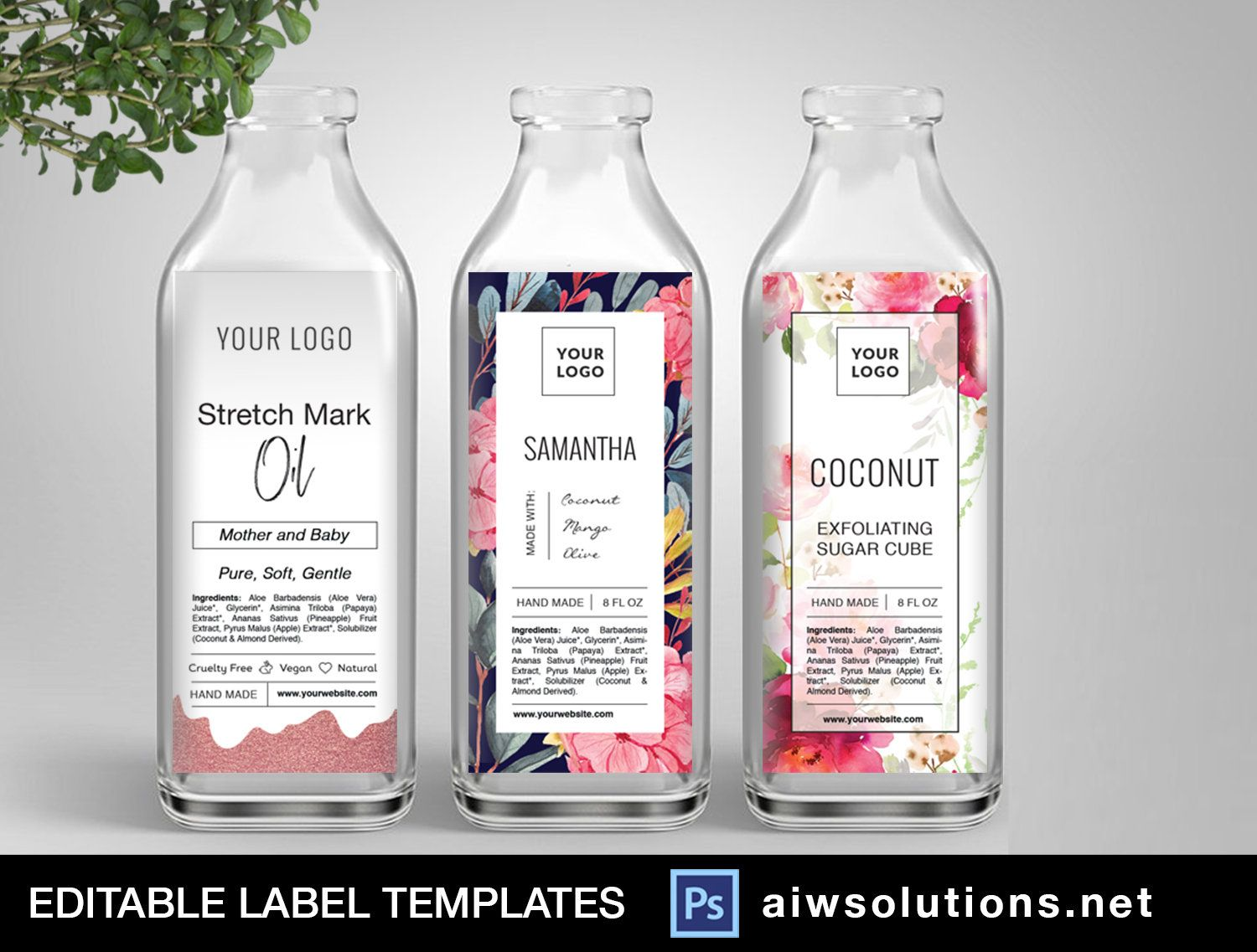 Juice Bottle Label Template Packaging Label Template Cosmetic Label Fragrance Skin Care Label Candle Label Template Sticker Template In 2020 Bottle Label Template Label Templates Cosmetic Labels