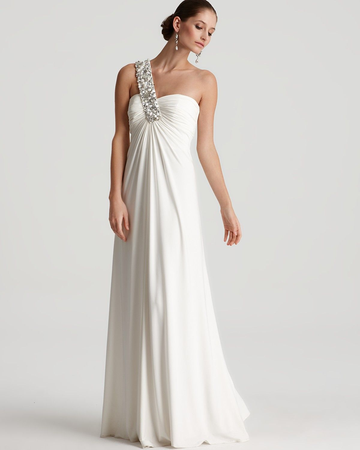 Mignon gown embellished one shoulder bloomingdaleus kristenus