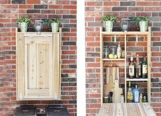 Diy Cool Fold Down Outdoor Murphy Bar Very Creative Idea Ideas