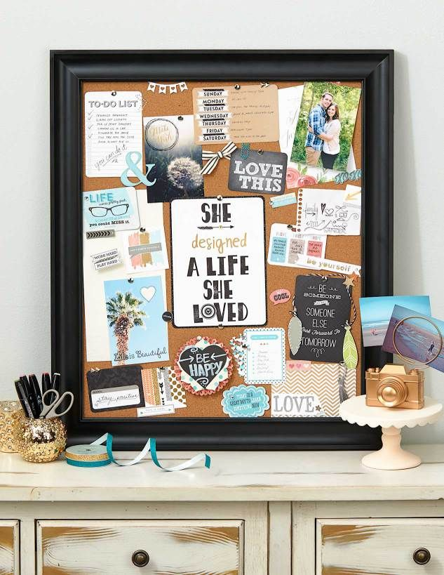 Organize your dreams by creating a vision board for your for Cork board inspiration