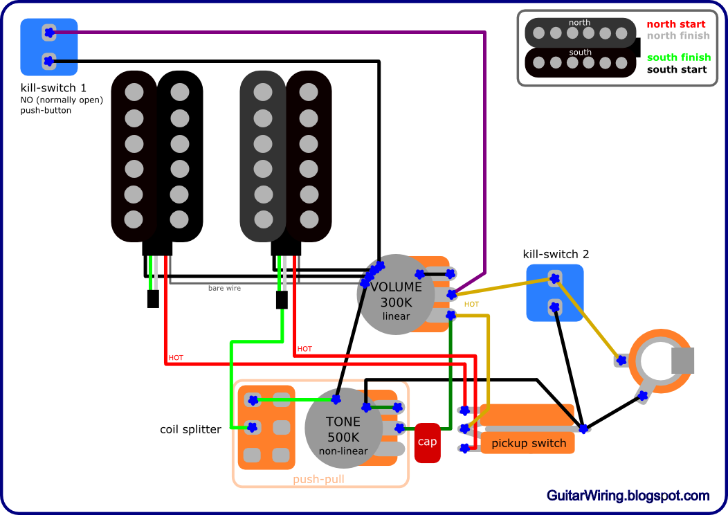 the guitar wiring blog - diagrams and tips: buckethead signature les paul  wiring