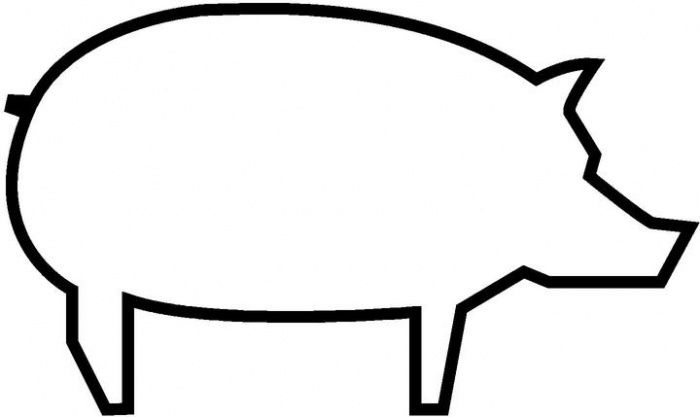 Pig Outline Coloring Page