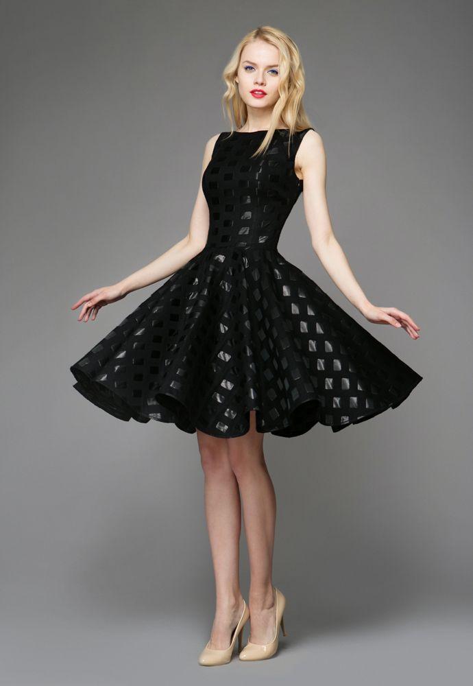 e9ad1cf433dca6a Платье с пышной юбкой (96 фото): до колена/миди, черное, приталенное ...