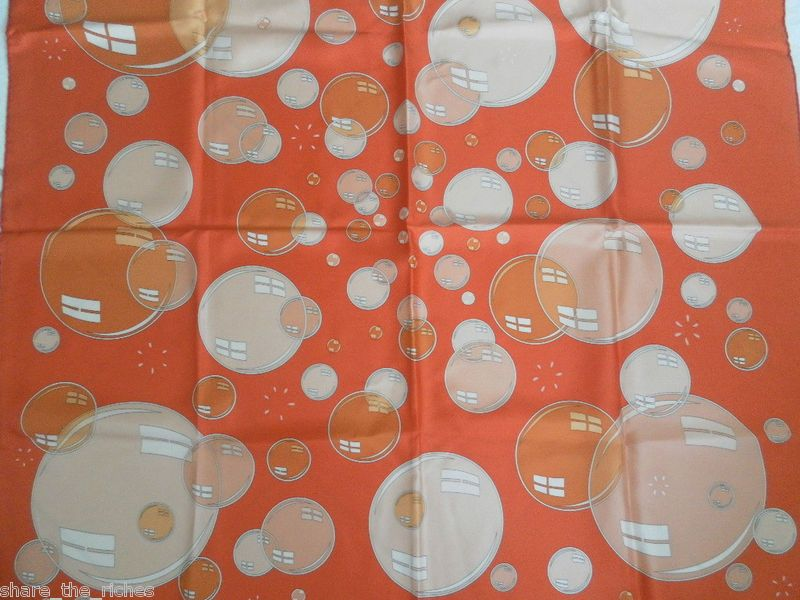 HERMES BAL DE BULLES ORANGE SILK SCARF