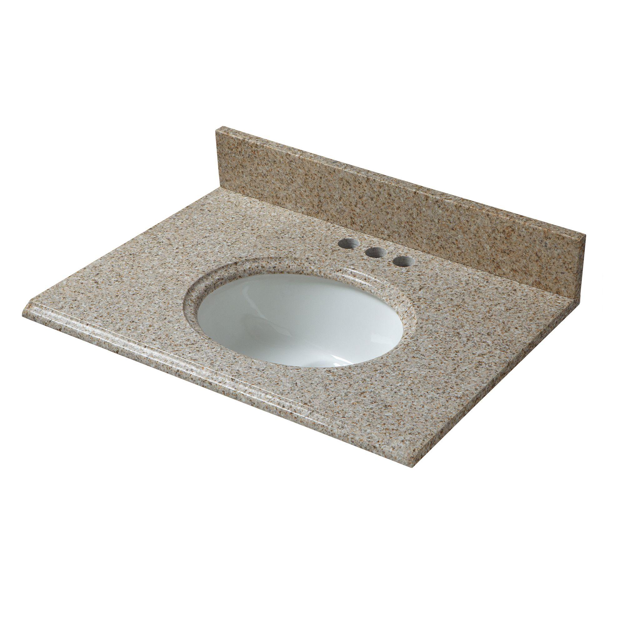 Cahaba Cahvt0138 61 In X 22 In Beige Granite Vanity Top With