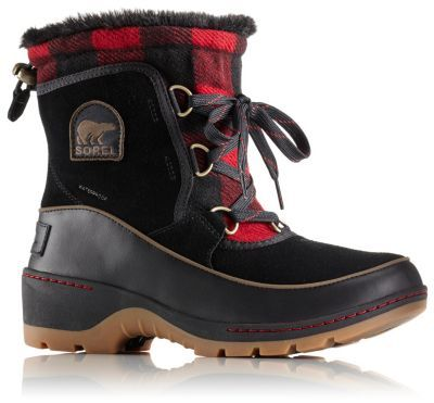 The SOREL Women's Tivoli III Buffalo Check Plaid Boot is a warm,  weatherproof lace up with a waterproof suede and textile upper, insulation  and a chic, ...