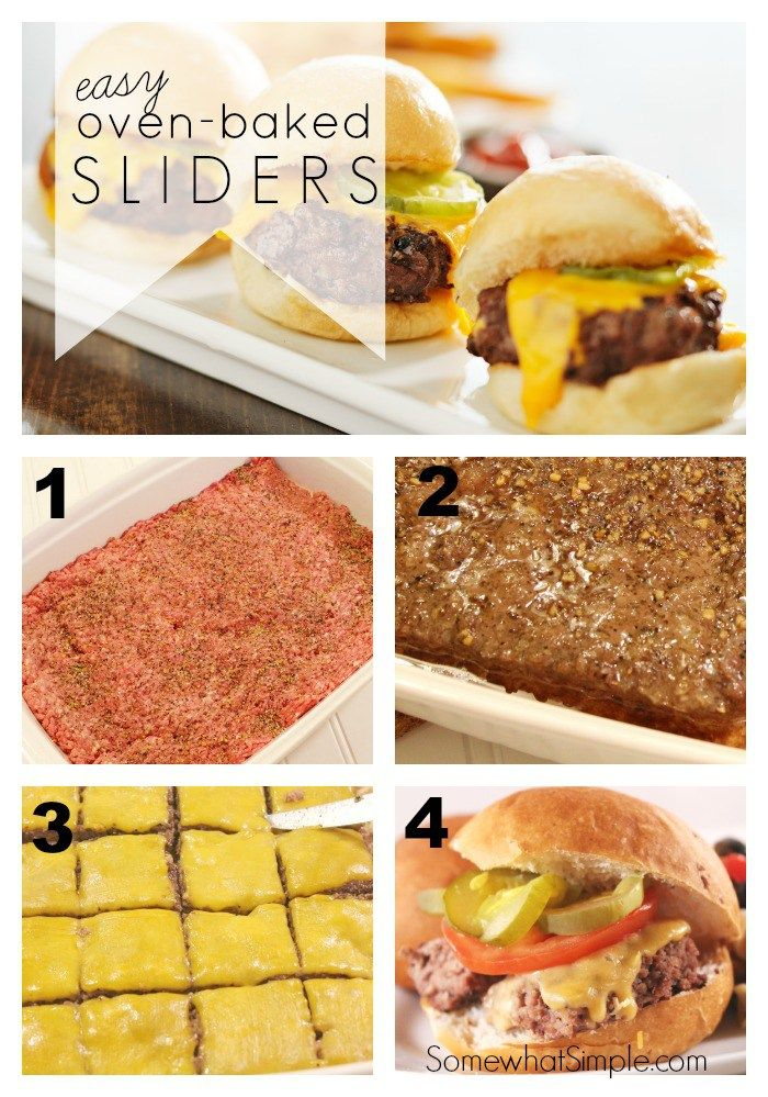 Oven Baked Sliders In 4 Easy Steps Somewhat Simple Recipe Slider Recipes Easy Oven Recipes