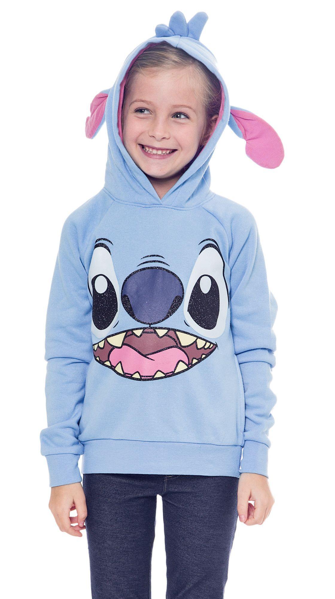 683a6939722d Disney Stitch Costume Sweatshirt Hoodie with Ears Blue | halloween ...