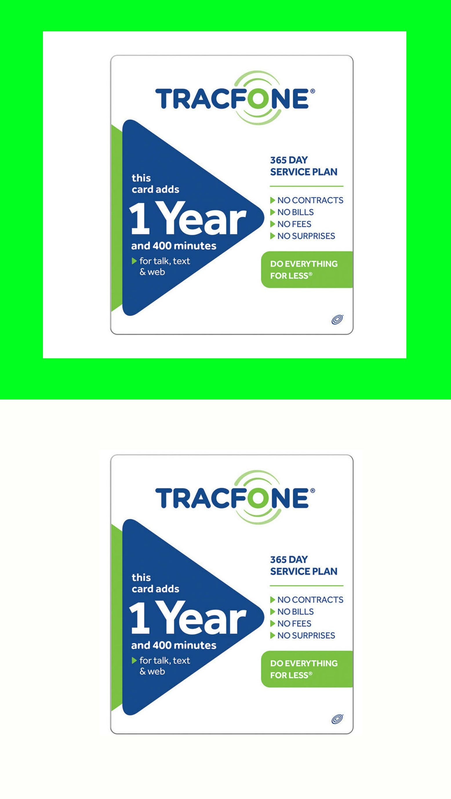 Phone And Data Cards 43308 Tracfone 1 Year 99 Plan Refill 365 Days 400 X3 Minutes Text Mb Smartphoneonly How To Plan Travel Sim Card International Sim Card