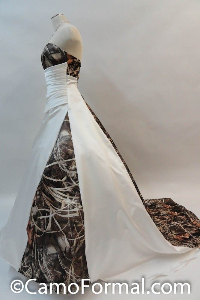 3137 Carrie In Ivory Matte Satin And Max 4 Camo I Don T Think I
