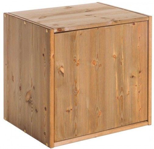 Regal Würfelregal KUBUS mit 1 Tür, Kiefer massiv Cube Pinterest
