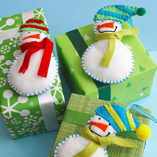 Felt Christmas Ornaments   Schneemann, Filz und Basteln weihnachten