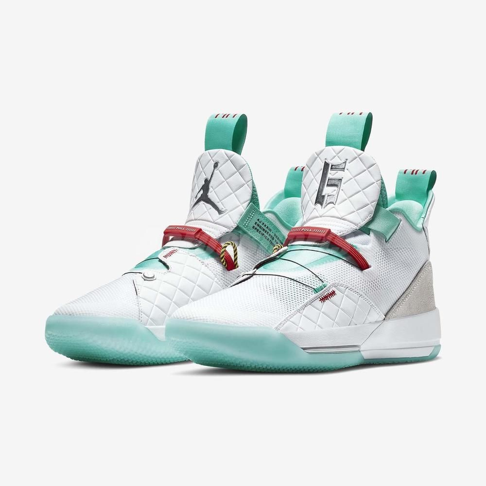 new concept 767b9 547c6 Nike Air Jordan XXXIII PF 32 Guo Ailun Jade Men Basketball Shoes BV5072-101