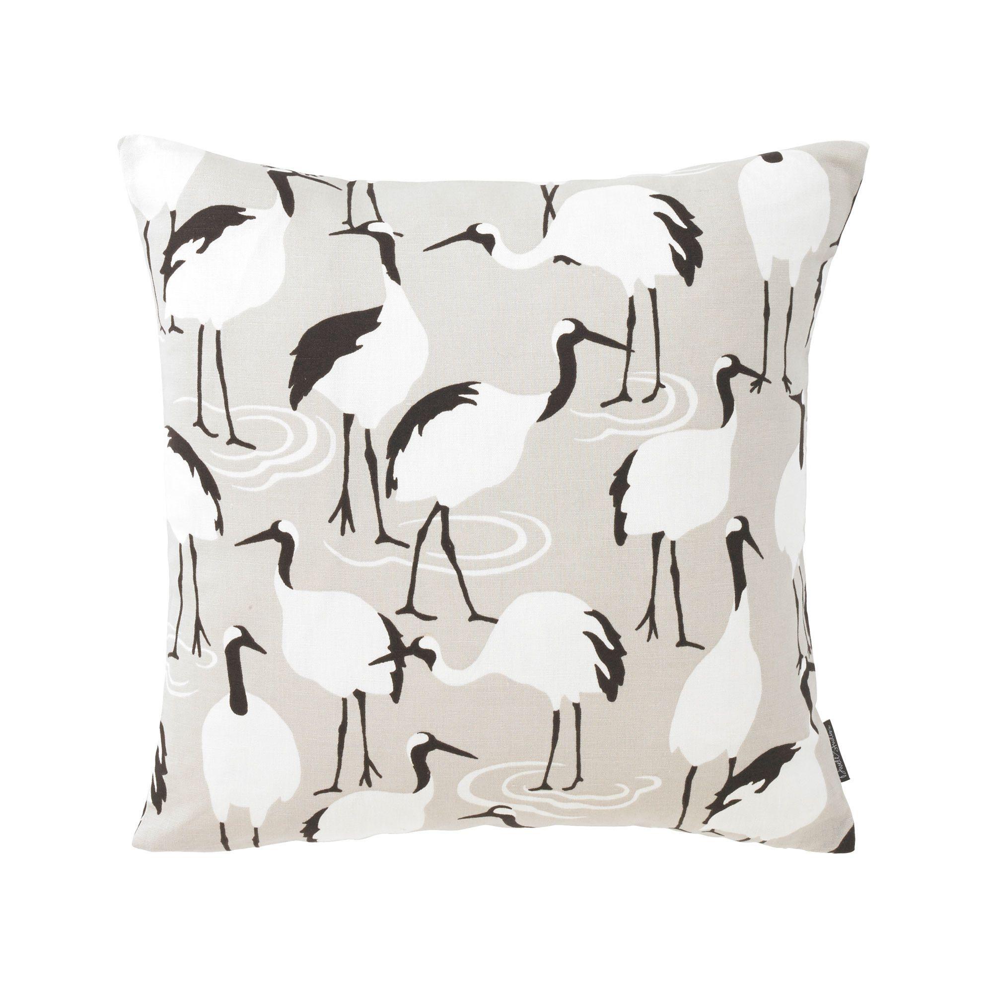 dwellstudio winter crane pillow  dwellstudio  for my home  - dwellstudio winter crane pillow  dwellstudio