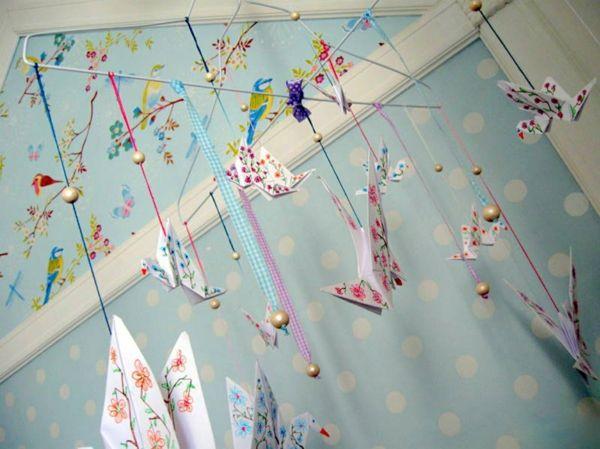 Kinderzimmer deko selber machen spielzeug pinterest for Origami zimmer deko