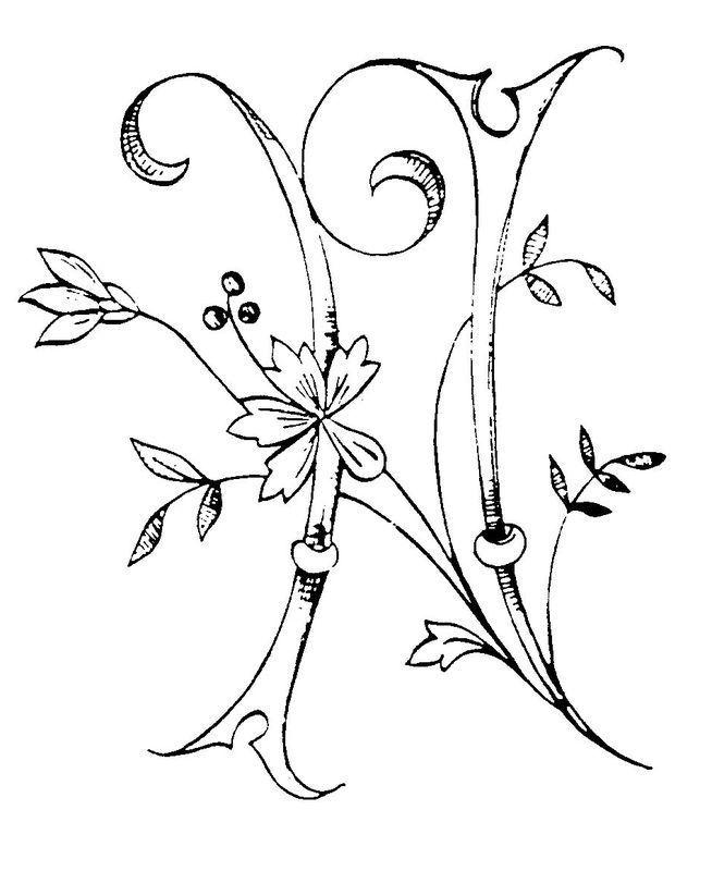 floral alphabet suite antike stickerei  embroidery