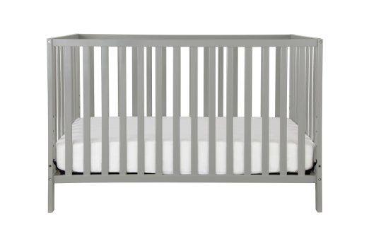 Union 4-in-1 Convertible Crib, Grey