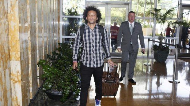 """Marcelo se apresenta para amistoso e declara: """"7 a 1 é coisa do passado"""""""