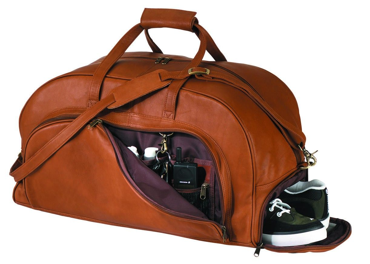 d17ceff59ef Royce Leather Organizer Duffel with Shoe Compartment 690-3-BLK   Luggage  Pros