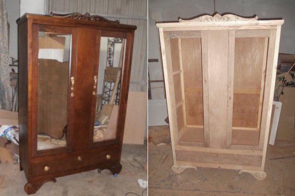C mo podemos pintar un mueble que est barnizado - Transformar muebles viejos ...