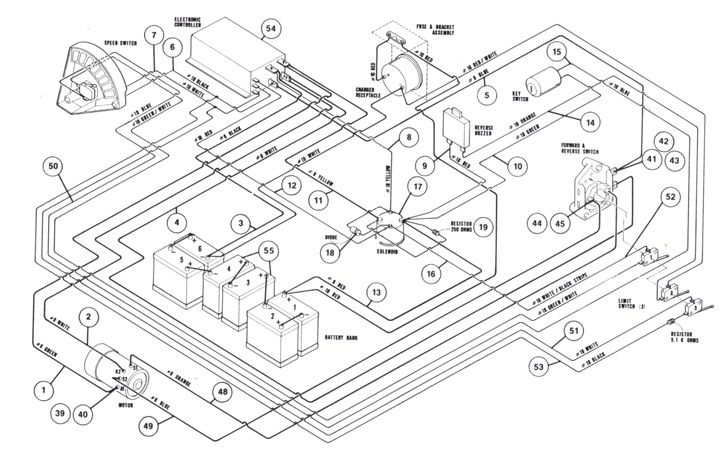 1991 club car ds wiring diagram 1997 club car 48v forward and reverse switch wiring ...
