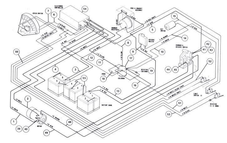 1997 club car 48v forward and reverse switch wiring diagram