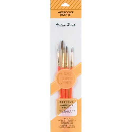Royal Langnickel Crafters Choice Watercolor Brush Set Value Pack