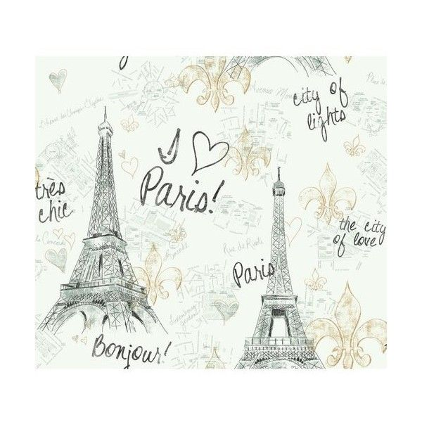 York Wallcoverings PW3909 Paris Wallpaper White Background / Black / (€51) ❤ liked on Polyvore featuring home, home decor, wallpaper, black wallpaper, black heart wallpaper, paris map wallpaper, pattern wallpaper and black gold wallpaper